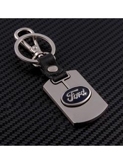 Брелок-карабин (металл-кожа) Ford 0394