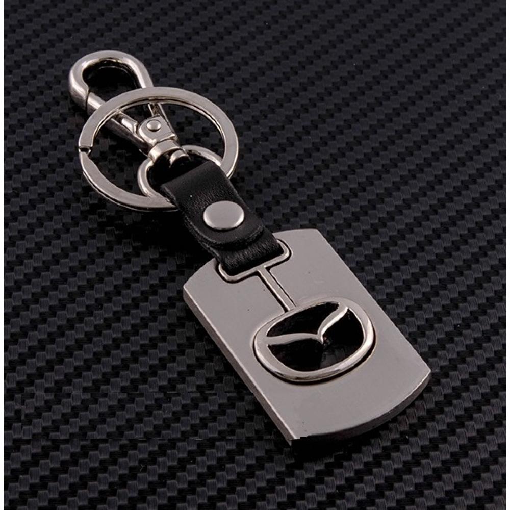 Брелок-карабин (металл-кожа) Mazda 0394