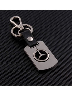 Брелок-карабин (металл-кожа) Mercedes 0394