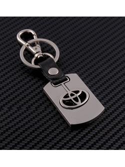 Брелок-карабин (металл-кожа) Toyota 0394