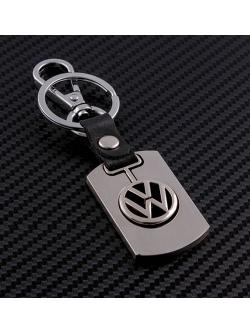 Брелок-карабин (металл-кожа) Volkswagen 0394