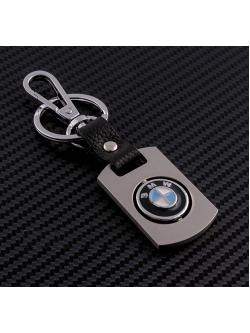 Брелок-карабин (металл-кожа) BMW 0394
