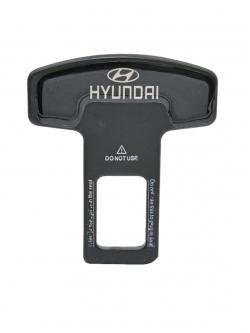Заглушка ремня безопасности металл с логотипом Hndai