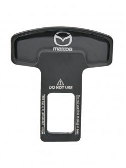 Заглушка ремня безопасности металл с логотипом Mazda