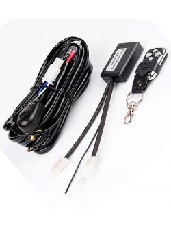 Блок управления светом с функцией стробоскоп (пульт ДУ, переключатель, проводка), 2,4w, 9-16v LLB