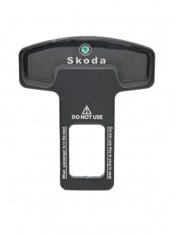 Заглушка ремня безопасности металл с логотипом Skoda
