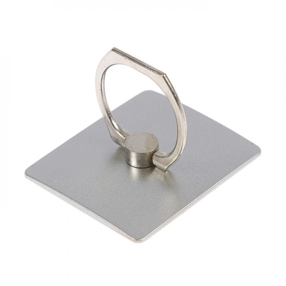 Кольцо-держатель для смартфонов Квадрат, серый