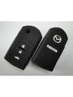 Чехол силиконовый для ключа зажигания Mazda Folding 3 buttons: M2, M3, M5, M6, M8, Ruiyi