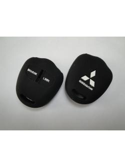 Чехол силиконовый для ключа зажигания Mitsubishi Flat: Pajero, Outlander series