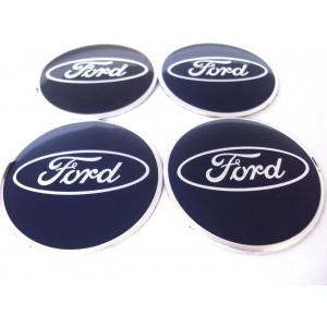 Декоративные наклейки на колпаки 3д металл Ford 65мм 4шт.