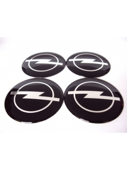 Декоративные наклейки на колпаки 3д металл Opel 60мм 4шт.