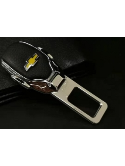 Заглушка ремня безопасности металл/кожа с логотипом Chevrolet