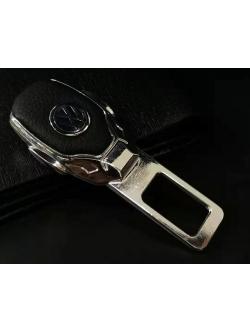 Заглушка ремня безопасности металл/кожа с логотипом Volkswagen