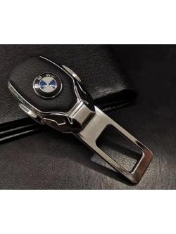 Заглушка ремня безопасности металл/кожа с логотипом BMW