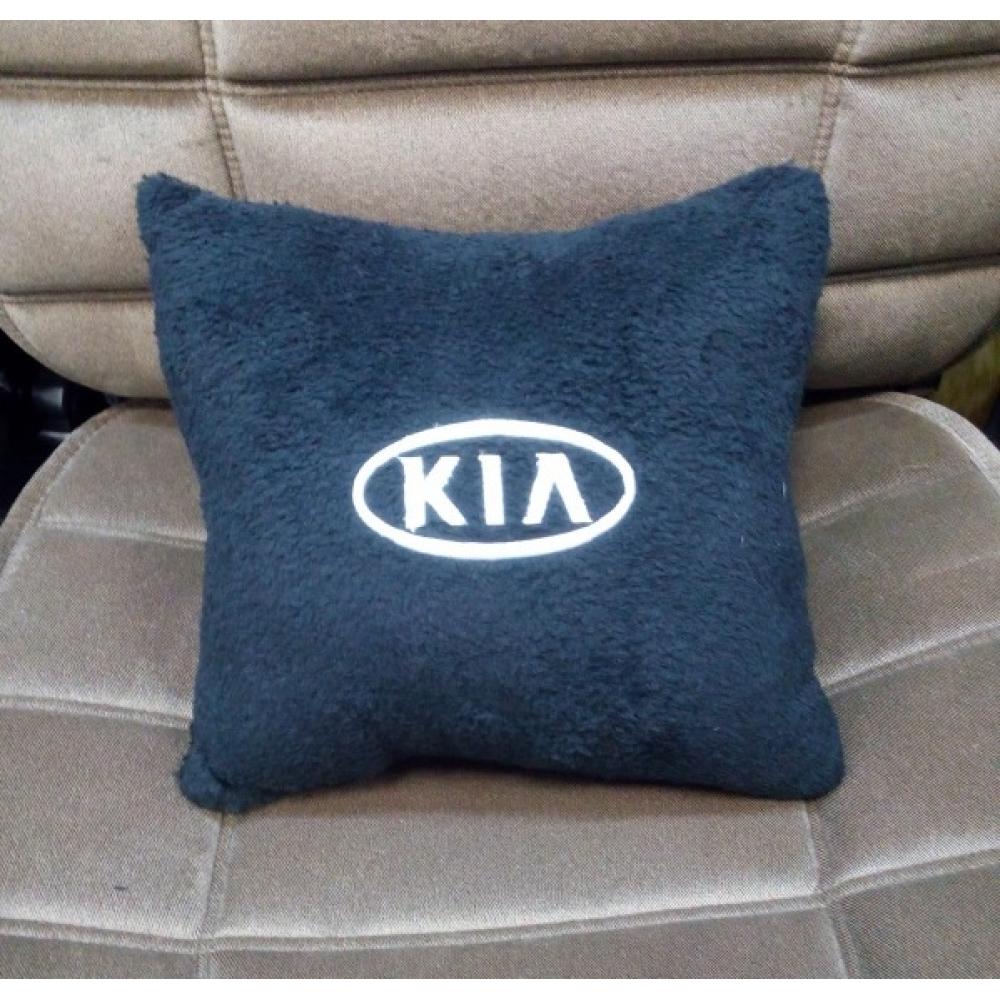 Подушка с логотипом Kia, 30*30см, черная