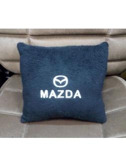 Подушка с логотипом Mazda, 30*30см, черная