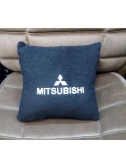 Подушка с логотипом Mitsubishi, 30*30см, черная