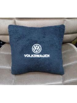 Подушка с логотипом Volkswagen, 30*30см, черная