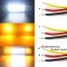 Фонарь+стробоскоп (белый, оранжевый) 2х3+2х5 диодов, 48w, 9-30v, 15х4х4см JR-48W-F