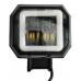 Прожектор + ангельские глазки, 6500k, 1500lm, 10-32v,  75х80х55мм
