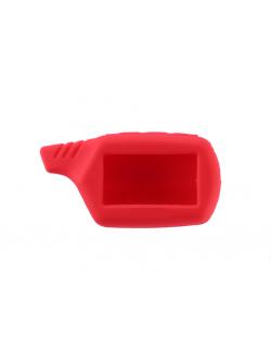Чехол на пульт сигнализации силиконовый красный B9, A91
