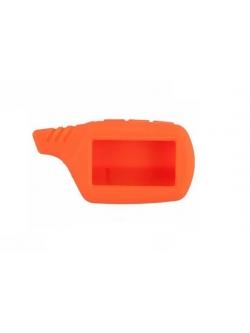 Чехол на пульт сигнализации силиконовый оранжевый B9, A91