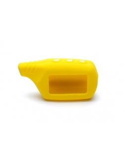 Чехол на пульт сигнализации силиконовый желтый B9, A91