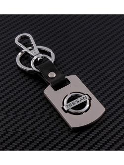 Брелок-карабин (металл-кожа) Nissan 0394
