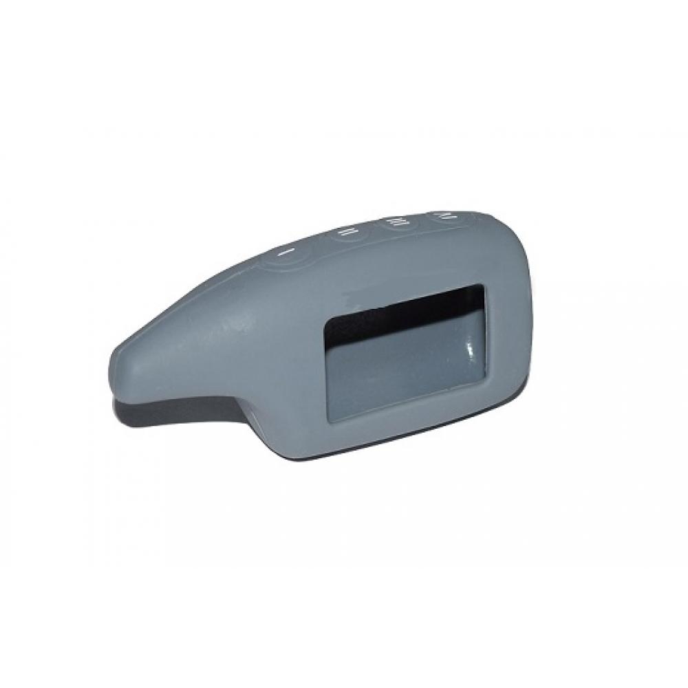 Чехол на пульт сигнализации силиконовый серый М5
