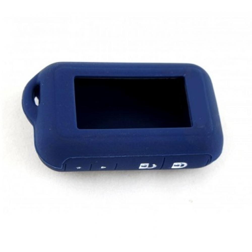 Чехол на пульт сигнализации силиконовый темно-синий E60/E90