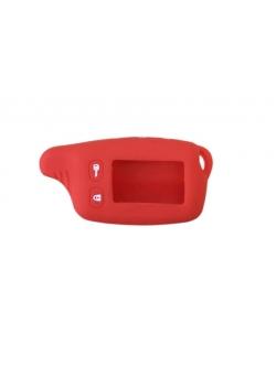 Чехол на пульт сигнализации силиконовый красный TW-9010/9020/9030