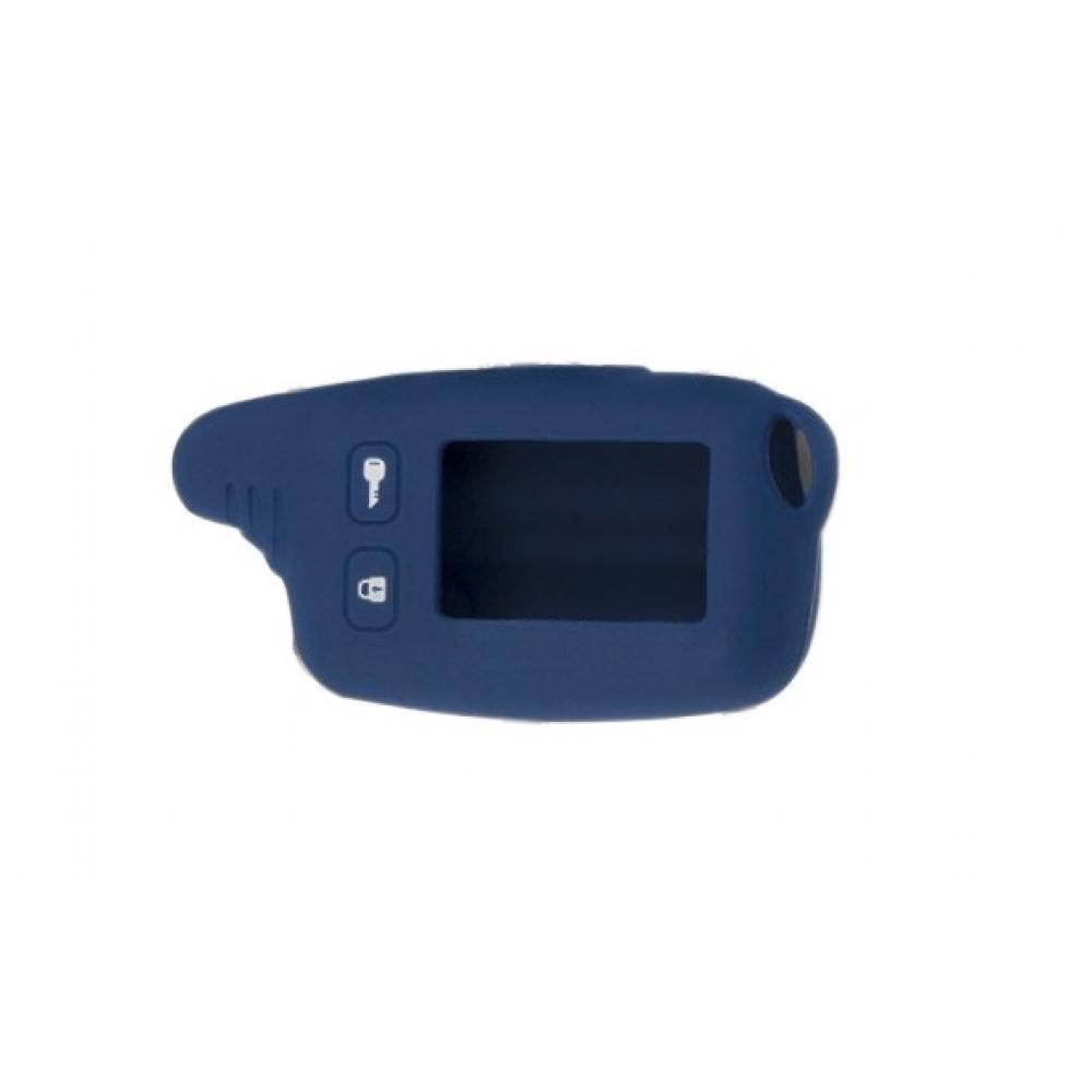 Чехол на пульт сигнализации силиконовый темно-синий TW-9010/9020/9030