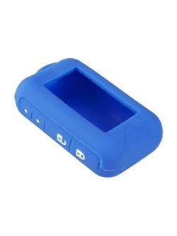 Чехол на пульт сигнализации силиконовый голубой E60/E90