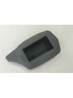 Чехол на пульт сигнализации силиконовый серый C6/C9