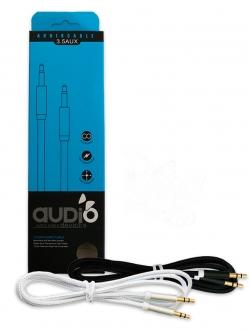 Стерео кабель AUX 100см черный в оплетке YPX-002