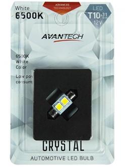 Лампа светодиодная Avantech 12v 31мм 6500k 2 led, 1шт