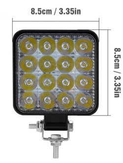 Светодиодная фара Off-Road MINI UltraSlim, 16диодов х 3W,48w, направленный свет, 85*18*100мм, 12/24v