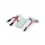 Лампа светодиодная площадка SMD18, 2 переходника, белая, 12v