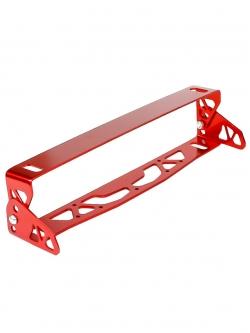 Рамка номерного знака с изменением угла наклона Красная алюминий