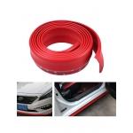 Резина для отделки бампера авто красная 2,5мх5,5см