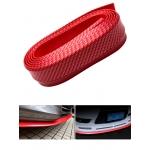 Резина для отделки бампера авто красный карбон 2,5мх5,5см
