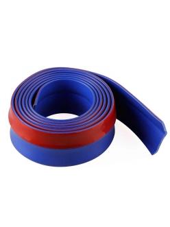 Резина для отделки бампера авто синяя 2,5мх5,5см