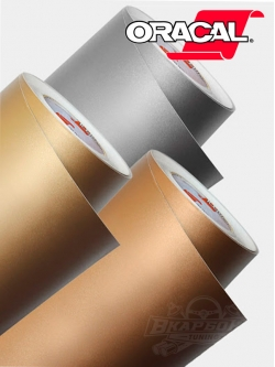Пленка Oracal 641 091 золотистая матовая, ширина 1м