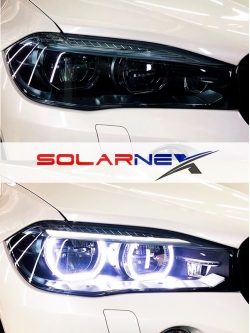 Антигравийная пленка полиуретановая для фар Solarnex OPTIC SMOKE PPF ширина 30см