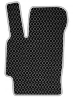 Эва коврики ВАЗ 2114 черные + серебристый кант