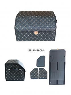 Автобокс в багажник экокожа 48х30х28 HT087
