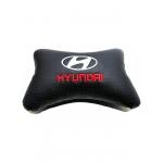 """Подушка на подголовник """"косточка"""" перфор. эко-кожа, черная для а/м Hyundai"""