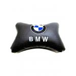"""Подушка на подголовник """"косточка"""" перфор. эко-кожа, черная для а/м BMW"""