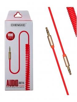 Стерео кабель AUX спираль 1,8м FLEX