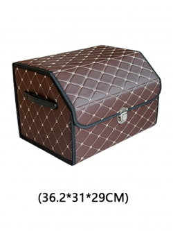 Автобокс в багажник экокожа 36х31х29 HT096